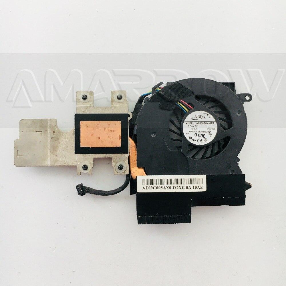 Cooler For HP elitebook 2540 2540P CPU cooling heatsink with fan 598789-001
