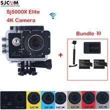 Original Série SJ5000X Elite Wi-fi À Prova D' Água Esportes de Ação Da Câmera Sj5000 SJCAM Sj 5000X Cam + 2 Battery Charger + Dual + monopé