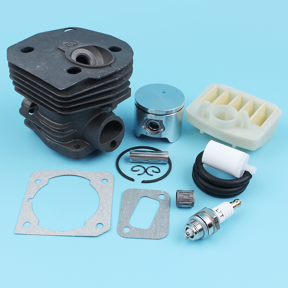 44mm Cylinder Piston Air Filter Spark Plug Kit For JONSERED CS2141 CS2145 CS2149 CS2150 CS2152 CS2153 Chain Saw Needle Bearing