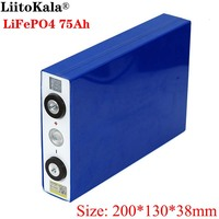 Liitokala 3.2V 75Ah battery pack LiFePO4 Lithium iron phospha Large capacity 75000mAh Motorcycle Electric Car motor batteries