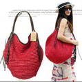 Trend 2017 tassel big beach bag straw bag woven bag women's handbag innumeracy shoulder bag casual handbag