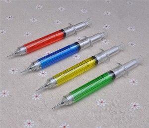 Image 4 - 30 stks/partij, 0.5mm Naald Spuit mechanische potloden, nieuwigheid Spuit vulpotlood als school stationair