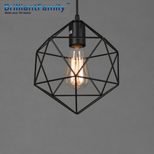 Simple Vintage Chandelier Nordic Wrought Iron Creativity Coffee Bar Dining Room  Light Fixtures  Personality Diamond Chandelier