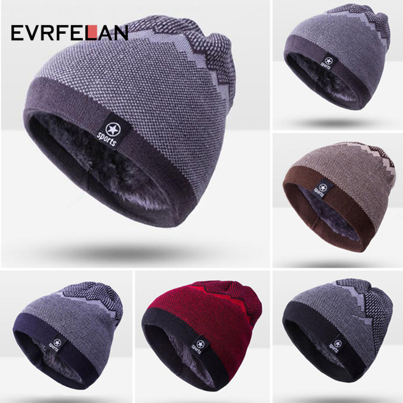 Detail Feedback Questions about 2018 Warm Fashion Winter Hat For Man  Knitting Hat Cap Man Beanie Hat Cap Skullies Beanies Elastic toucas Drop  Shipping on ... 80a4d0b94343