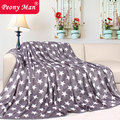 New Hot Flannel Baby Blanket Warm Star Cover Quilt Home Super Soft Spring Autumn Fleece Peony Man Travel Car Blankets