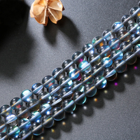 Aladdin Top Kwaliteit Maansteen kraal dusty blue Kleurrijke bubble Losse Kralen voor DIY Armband ketting oorbellen LIEFDE gift
