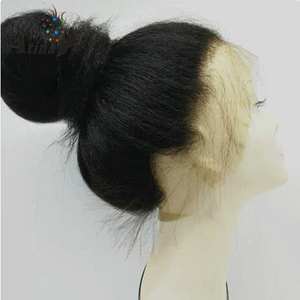 Kinky Straight 360 Lace Frontal Wig Pre Plucked 150 Density Lace Front Human Hair Wigs With Baby Hair for Black Women Atina Remy-in Human Hair Lace Wigs from Hair Extensions & Wigs    1