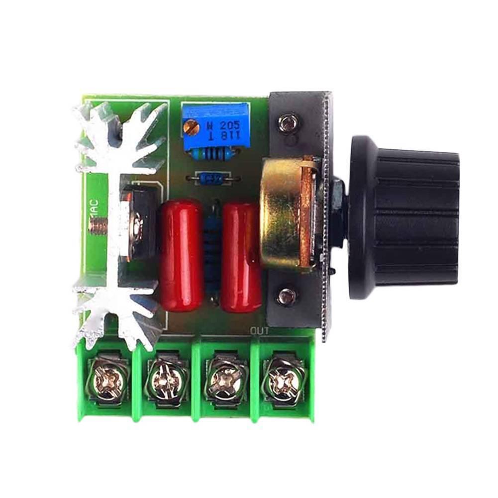 AC Motor Speed Controller Adjustable Voltage Regulator 1200 V / Current 25A 48*60*28mm1.6mm 50-220V Latest Useful