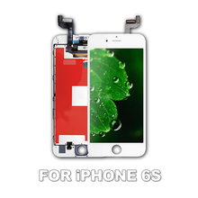 LEOLEO 10pcs/lot White&Black Brand New LCD For iPhone 6S 6GS 4.7 Display Touch Screen Digitizer Assembly With 3D