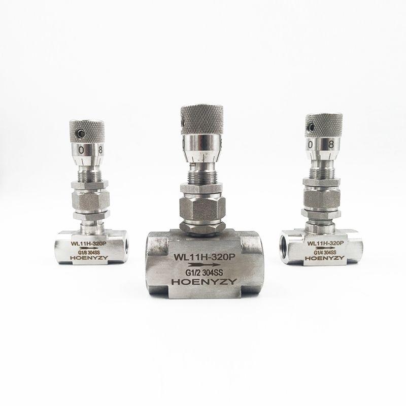G 1 8 1 4 NPT 1 2 Stainless Steel 304 Needle Valve PN 6 4