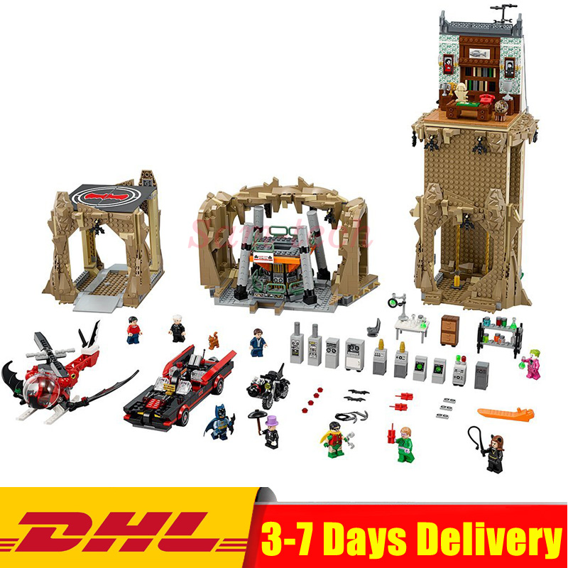 2018 IN Stock DHL Lepin 07053 2566pcs Genuine DC Batman Super Heroes MOC Batcave Educational Building Blocks Bricks Toys 76052 single sale pirate suit batman bruce wayne classic tv batcave super heroes minifigures model building blocks kids toys gifts
