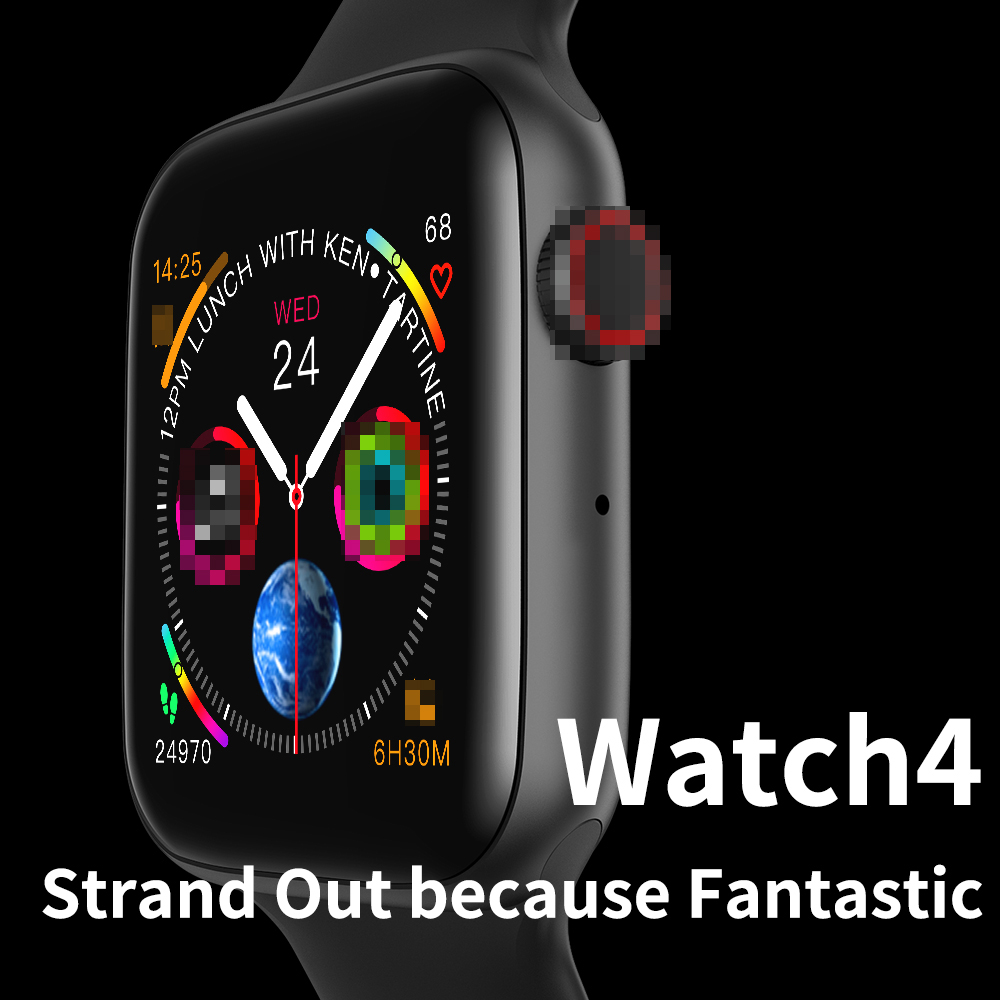 44mm Bluetooth Smart Watch Series 4 1:1 <font><b>SmartWatch</b></font> Case for iOS Android Heart Rate ECG Pedometer Upgrade pk <font><b>IWO</b></font> 5 6 <font><b>7</b></font> 8 9 image