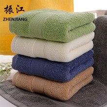 Toalla cómoda textil para el hogar, toalla de algodón grueso puro con borde cruzado, regalo de supermercado para hotel al por mayor