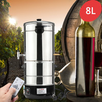 8L Durable DIY Home Distiller Moonshine Alcohol Stainless Water Wine Essential Oil Brewing Kit Winemaking Machine 220V
