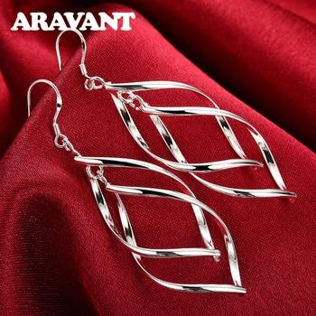2020 New Arrival 925 Silver Jewelry Women High Quality Long Earrings Hanging Drop Earring Jewelry 1