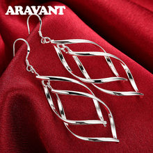 2019 New Arrival Long Earrings 925 Silver Female High Quality Hanging Drop Earring Jewelry(China)
