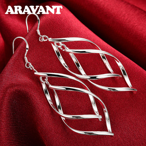 2020 New Arrival 925 Silver Jewelry Women High Quality Long Earrings Hanging Drop Earring Jewelry