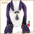 Joyería de moda bufanda del ganchillo con cuentas