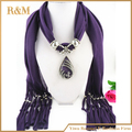 fashion jewelry crochet scarf with beads