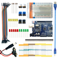 Free shipping Landzo arduino 13 in 1 kit new Starter Kit UNO R3 mini Breadboard LED jumper wire button for arduino compatile