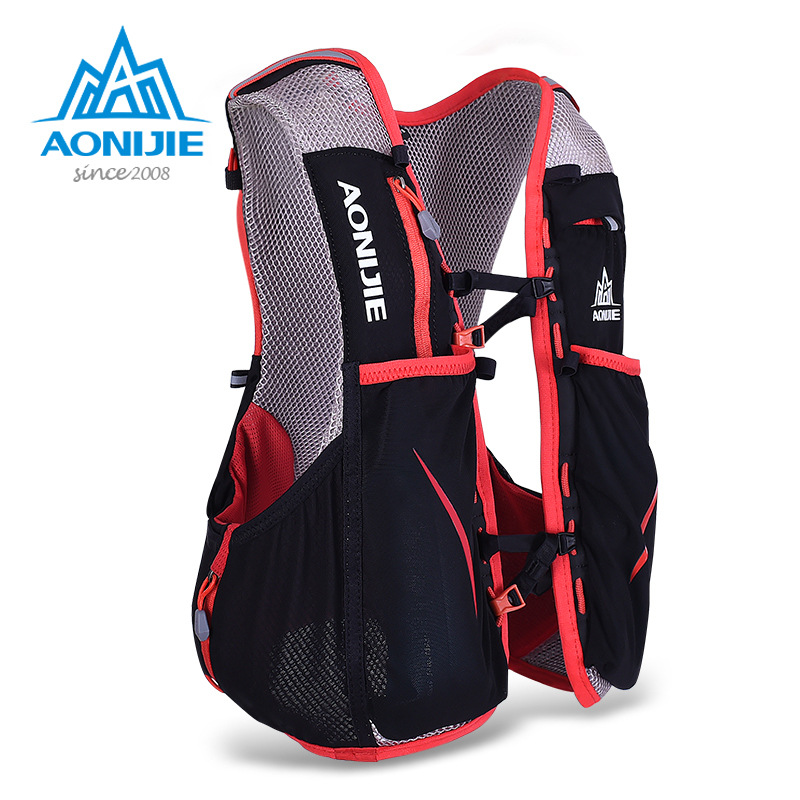 AONIJIE Professional Women Men Marathon Hydration Vest Pack For 1.5L Water Bag Cycling Hiking Bag Outdoor Sport Running Backpack 10l professional hydration bag bicycle backpack for men road packsack rucksack vest bag hydration pack women s shoulder bags 508
