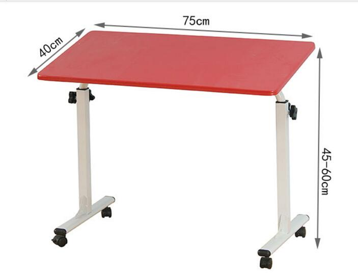 75*40cm Height Adjustable Laptop Desk Portable Folding Notebook Table Mutil-Purpose Computer Desk Primary School Study Desk 120 45cm portable bedside notebook table mutil purpose rremovable computer desk lazy laptop desk children study desk with wheels