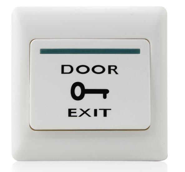 Free Shipping exit button for Access control plastic door release Dim 86Lx86Wx20H mm min 1pcs