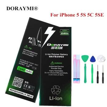 Bateria DORAYMI do telefonu iPhone 5 5G 5S 5C 5SE SE wymiana telefonu komórkowego Bateria litowo-polimerowa o dużej pojemności tanie i dobre opinie 1801 mAh-2200 mAh Kompatybilny ROHS Apple iphone ów iPhone 5G 5S 5C 5SE Lithium Polymer Battery for iPhone 5 for iPhone SE