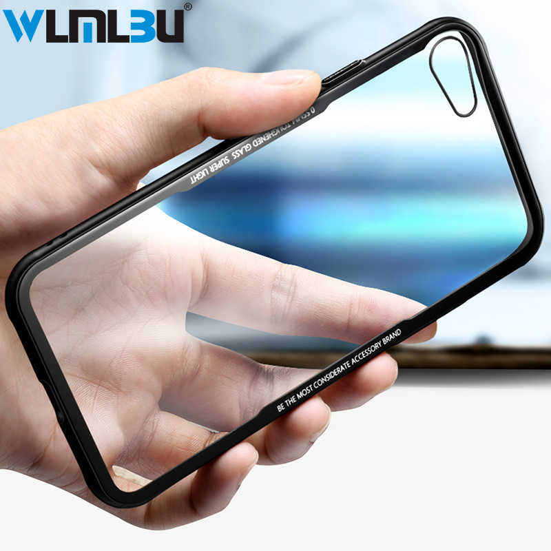Fashion CASE Transparante scratch-proof back cover soft TPU beschermhoes voor iphone 8 7 6 s 6 plus beschermende case voor iphone X