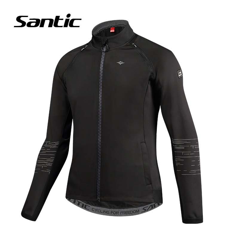 Santic Cycling Jacket Men Autumn Windproof Sport Bike Jacket Removable Sleeves Short Riding Wind Coat Reflective