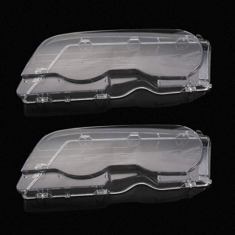 1 Pair Left&Right Headlight Lense Headlamp Lens Clear Lens Car Headlight Cover For BMW E46 3 Series 4DR/2DR 98-01 02-06 99-03 1 pair left right bumper headlight washer caps cover for audi a4 b6 quattro 02 05