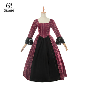 ROLECOS New Women Long Sleeve Victoria Dress Cotton Medieval Gothic Princess Polyester Costumes Lolita Dresses for Women 1