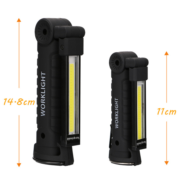 COB LED Flashlight Portable USB Rechargeable 5 Mode Working Light Magnetic Torch Lanterna Hanging Hook Lamp for Outdoor Camping 4