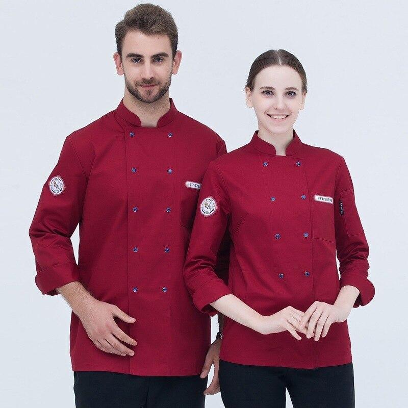 Cooks Kitchen Jacket Adult High Quality Chef Uniforms Uk Clothing Female Restaurant Chefs Apparel Ladies Chefwear B-6522