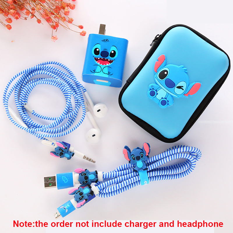 Earphone Bag Cases Cable Protector USB Charger Sticker Spiral Cable Protection For Huawei Nova 4/3/3i/3e/P9/Mate 8/Glory V8/V9