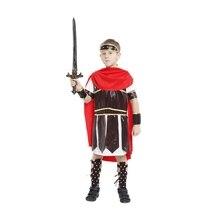 Kids Child Ancient Roman Spartan Warrior Costume Centurion Hercules Costumes Brave Gladiator Soldier Cosplay for Boys Halloween