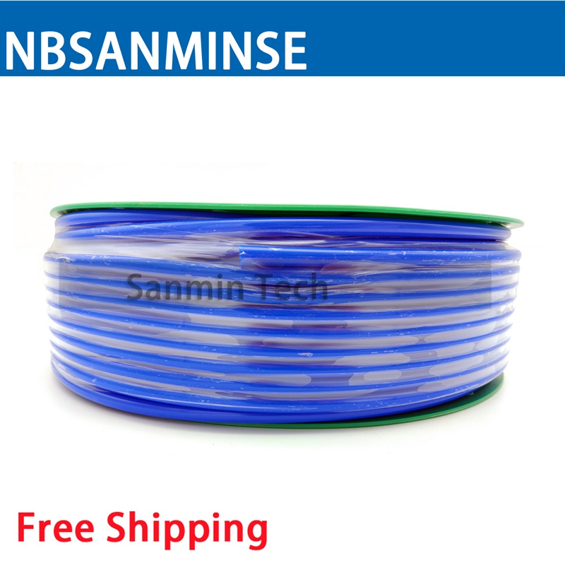 100M Pipe Blue PU Pneumatic Hose Tube Pneumatic Hose Air Compressor PU Hose Hydraulic Components High Quality Sanmin tu0425bu 100 tu0604bu 100 tu0805bu 100 tu1065bu 100 tu1208bu 100 smc pneumatic blue air hose hose length 100m