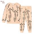 2016 Baby Girl  Boys Clothing Set Winter Totem Sweat T-shirt+Pants Kids Christmas Tops Leggings Children Autumn Sweatshirt Suits