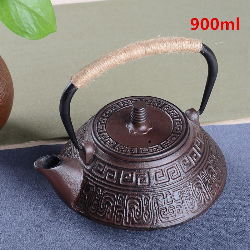 Hot Sale Cast Iron Tea Pot Set Japanese Teapot Tetsubin Kettle Drinkware KungFu Tools Stainless Steel Strainer Tea Kettle 900ml