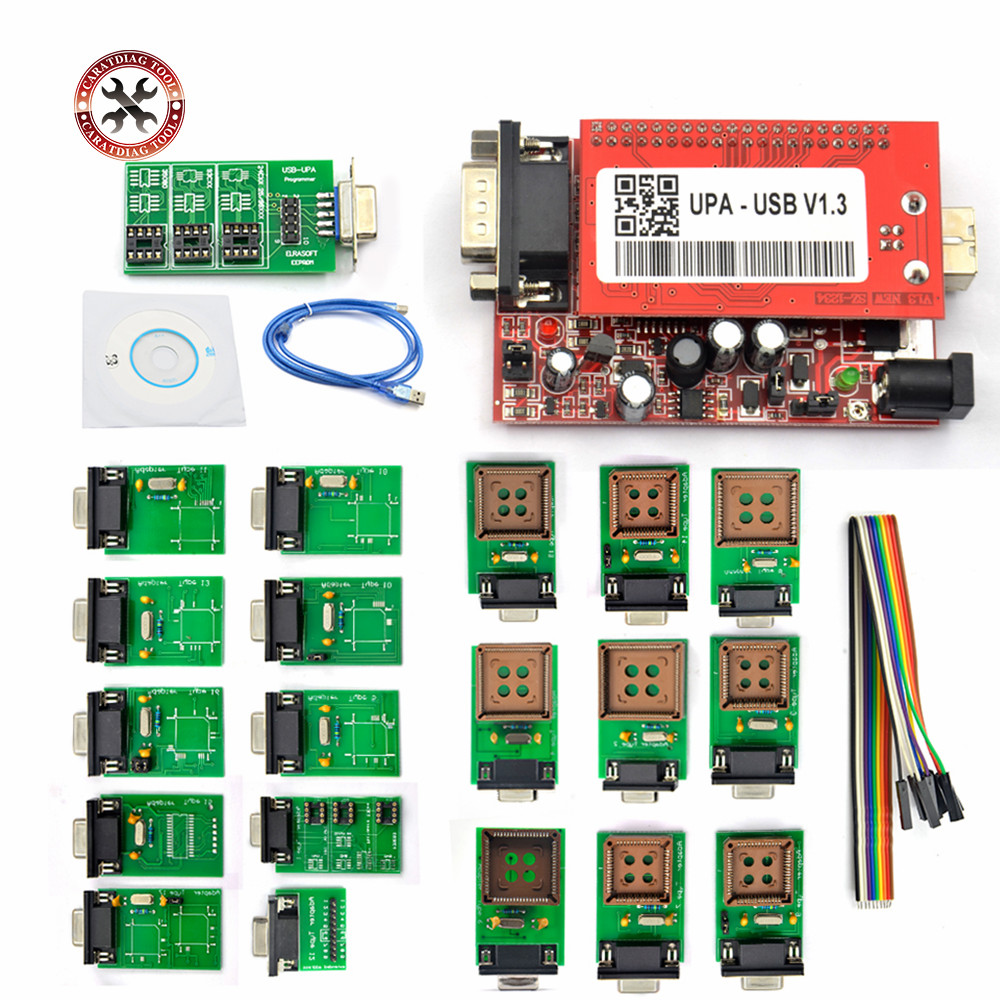 Professional UPA USB Programmer V1.3 With Full Adapters Main Unit UPA-USB 1.3 UPA USB V1.3 ECU Chip Tunning OBD2 Tool