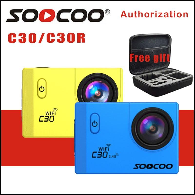 Оригинал soocoo c30/c30r действие Камера 20MP 4k WiFi Ultra HD 1080 P/60FPS Водонепроницаемая мини-камера GoPro велосипед камера для наружной съемки Спорт Камера