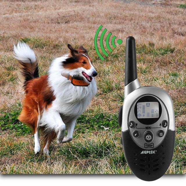 1 UNID 1000 Yardas Recarga Impermeable LCD Choque Vibra collar Alejado del Entrenamiento Del Animal Doméstico VEJ10 T50