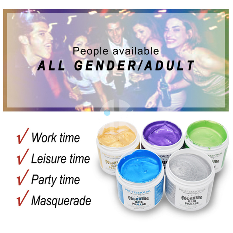 113g Harajuku Style Styling Products Hair Color Wax Dye One-time Molding Paste Five Colors Hair Dye Wax maquillaje Make up