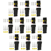 10x 3 Pin Sealed Waterproof Electrical Wire Connector Plus Car Set Accessories