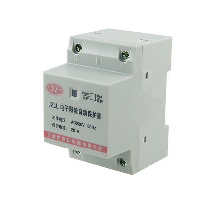 AC 220V 20A 2P Electronic Circuit Breaker Overload Protector 35mm DIN Rail Mount din rail mount 6000a breaking capacity 3 pole miniature circuit breaker 40a