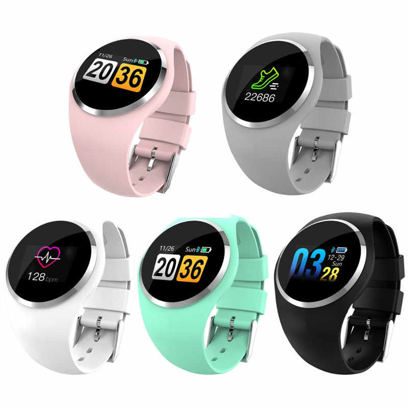 شاشة ملونة ساعة ذكية Smar معصمه ضغط الدم معدل ضربات القلب الرياضة يمكن ارتداؤها أجهزة مشاهدة الرجال النساء سوار الساعات الذكية