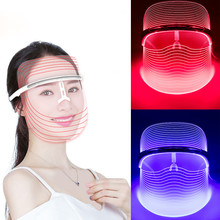 Hot sale 3 Colors LED Facial Neck Mask Micro-current LED Photon Mask Remove Wrinkle Acne Skin Rejuvenation Face Beauty Machine