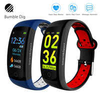 Q6S Smart Wristband Color 3D dynamic Heart Rate Monitor Smart Bracelet waterproof Sports Band Fitness Watch for Men Women Gift
