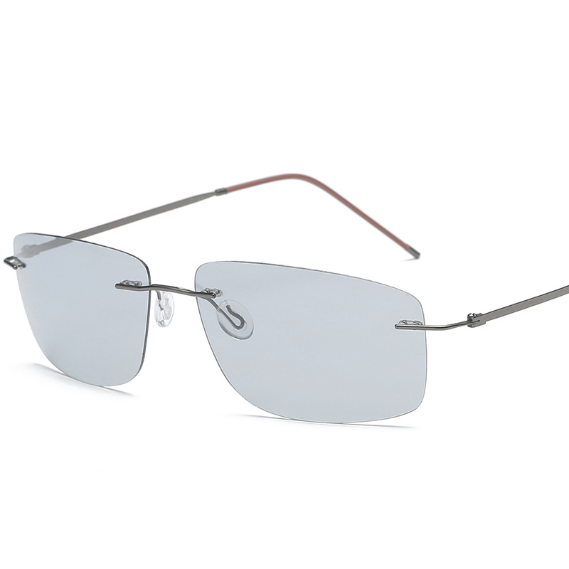 Aliexpress.com : Buy Vazrobe Rimless Polarized Sunglasses