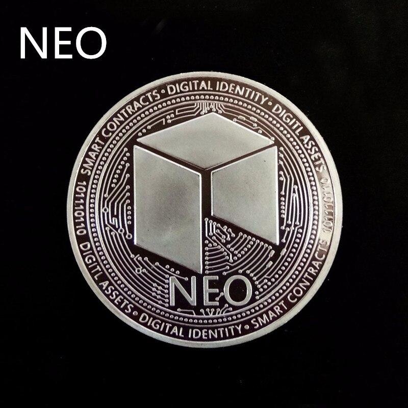 Позолоченная Виртуальная металлическая памятная монета биткоины сувенир искусство коллекционный бизнес подарок праздничное украшение подарок античный Im - Цвет: NEO